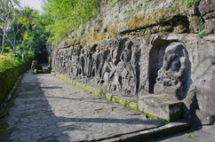 Yeh Pulu rock carvings, Bali Royalty Free Stock Photo