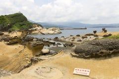 Yehliu geologic park landscape Stock Images
