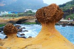 Yehliu geopark在台湾 免版税库存图片