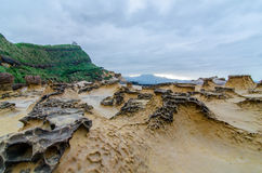 Yehliu Geopark (自然风景)在台湾 免版税库存照片