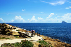 Yehliu geopark. View in yehliu geopark,taiwan,china Royalty Free Stock Photography