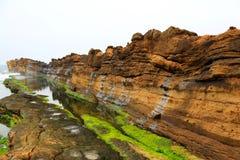 Yehliu geopark i Taiwan Arkivfoto