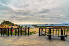 Yehliu Geopark (Natural landscape) in Taiwan Royalty Free Stock Photo