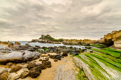 Yehliu Geopark (Natural landscape) in Taiwan Stock Photos