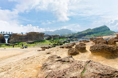 Yehliu Geopark, Taiwan Photo stock