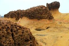 Yehliu-geopark in Taiwan Stockbilder