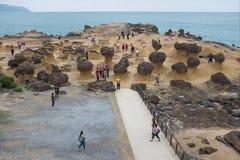 Yehliu geopark in Taiwan Royalty-vrije Stock Foto's