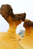 Yehliu geopark in Taiwan Stock Photography