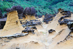 Yehliu geopark in Taiwan Royalty Free Stock Photography