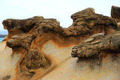 Yehliu geopark in Taiwan Royalty Free Stock Images