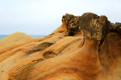 Yehliu geopark in Taiwan Stock Photos