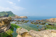 Yehliu Geopark, Taiwan Stock Images