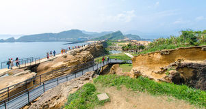 Yehliu Geopark, Taiwan. Stock Images