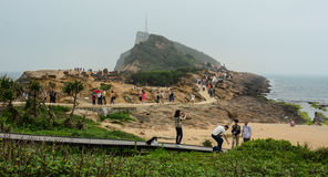 Yehliu Geopark in Taiwan Royalty Free Stock Image