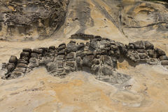 Yehliu rock formations detail Stock Photo
