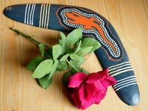 Or Yehuda boomerang and rose November 2010 Stock Photography