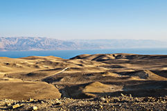 Yehuda desert and dead sea. View of mountains and the dead sea in yehuda desert Royalty Free Stock Images