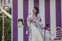 Yekaterina Shimanovich als Manon in de opera Manon Lescaut Stock Fotografie