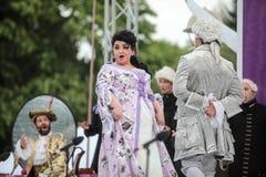 Yekaterina Shimanovich comme Manon dans l'opéra Manon Lescaut Photographie stock libre de droits