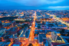 Yekaterinburg aerial panoramic view Royalty Free Stock Photography