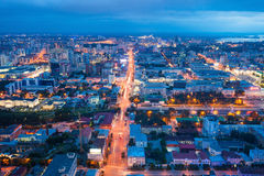 Yekaterinburg aerial panoramic view Stock Photo