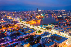 Yekaterinburg aerial panoramic view Stock Image