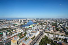 Yekaterinburg, aerial view Royalty Free Stock Images