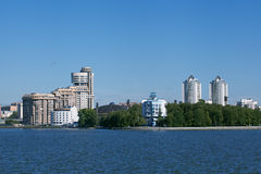 Yekaterinburg. City water Pond. Royalty Free Stock Photography