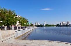 Yekaterinburg  embankment Royalty Free Stock Image