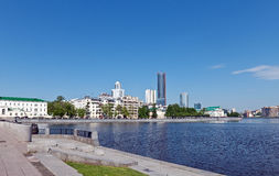 Yekaterinburg  embankment Royalty Free Stock Photos