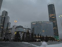 Yekaterinburg in last autumn royalty free stock photography