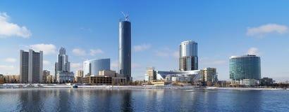 Yekaterinburg miasta panorama Fotografia Royalty Free