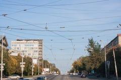 Yekaterinburg, Rússia - 24 de setembro 2016: Paisagem da cidade Fotografia de Stock