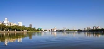 Yekaterinburg riverbank, panoramic view Stock Images