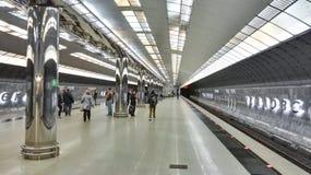 Yekaterinburg, Rosja, Czerwiec 2017 Projekt jest podróżny w Rosja metro w YEkaterinburg Obraz Stock