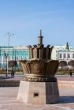 Yekaterinburg Rosja, Wrzesień, - 24 2016: Kamienny kwiat i Obraz Stock