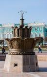 Yekaterinburg Rosja, Wrzesień, - 24 2016: Kamienny kwiat i Zdjęcia Stock