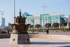 Yekaterinburg Rosja, Wrzesień, - 24 2016: Kamienny kwiat i Obraz Royalty Free