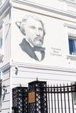 Yekaterinburg, Rusland - April, 27.2017: Het portret van de grote Russische schrijver Ivan Turgenev schilderde op muur van huis Stock Fotografie