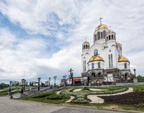 Yekaterinburg, Rusland - Juni 11, 2016: Kerk op Bloed in Eer Stock Afbeelding