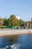 Yekaterinburg, Rusland - September 24 2016: Dijk van riv Royalty-vrije Stock Afbeelding