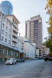 Yekaterinburg, Rusland - September 24 2016: Het hotel en de zaken Stock Foto