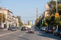 Yekaterinburg, Rusland - September 24 2016: Stadslandschap Stock Afbeelding