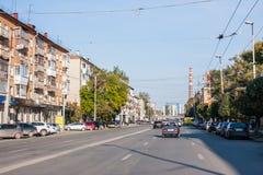 Yekaterinburg, Rusland - September 24 2016: Stadslandschap Stock Afbeeldingen