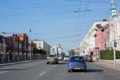 Yekaterinburg, Rusland - September 24 2016: Stadslandschap Royalty-vrije Stock Fotografie