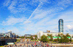 YEKATERINBURG RUSSIA - AUGUST 15,2015: celebration of the feast day of the city Stock Image