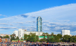 YEKATERINBURG RUSSIA - AUGUST 15,2015: celebration of the feast day of the city Stock Images