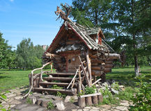 YEKATERINBURG, RUSSIA - JUNE 2, 2015: Photo of The Hut of Baba Yaga. Tagansky Park. Royalty Free Stock Photos