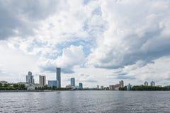 Yekaterinburg, Russia - June 11, 2016: View of quay wharf embank Stock Photos