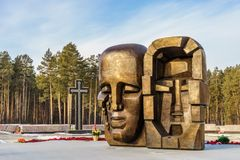 Yekaterinburg, Russia November 2017, Monument Masks of Grief by Ernst Neizvestny Royalty Free Stock Photo